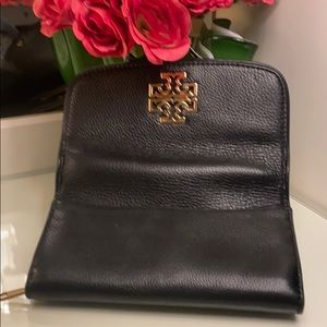 Tory Burch Black Soft Leather Wallet